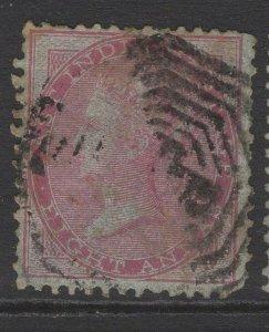 INDIA SG36 1855 8a CARMINE USED