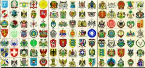 Worldwide NH Foreign Coat Of Arms Stamp Collection 140 Stamps