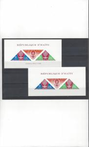 Haiti C130a With & Without Inscription  MNH