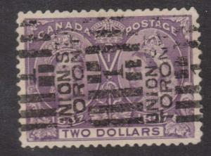 Canada #62 XF Used With Nice Union STN Roller Cancel