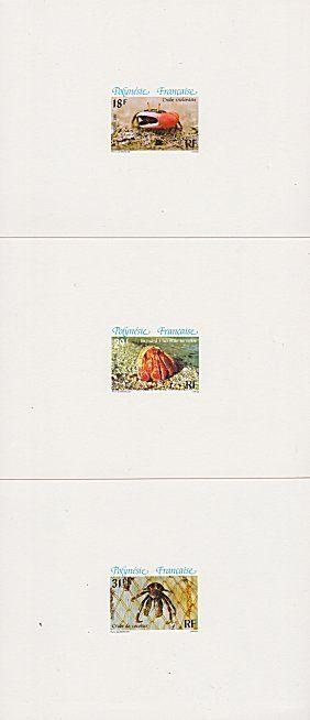 FRENCH POLYNESIA 1986 Crabs set of 3 proofs.................................4040