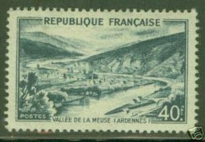 FRANCE Scott 631 MH* tourism stamp  CV $12, Key Value