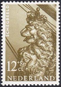 Netherlands # B366 mnh ~ 12¢ + 8¢ Lion Figurehead From Ship