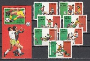 Guinea Bissau, Scott cat. 780-786, 787. World Cup Soccer set & s/sheet. ^