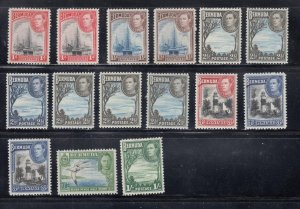 BERMUDA KGV1 MNH ISSUES TO 1sh WITH SHADES AND VARIETIES