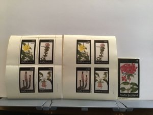 Staffa Scotland plant flowers Psoralea Erica  MNH stamps  R25314