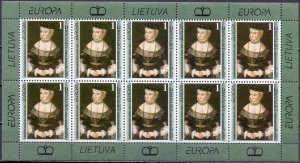 Lithuania. 1996. CLB 608. picture of Europe. MNH.