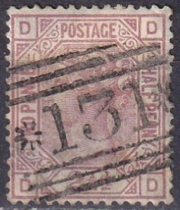 Great Britain #67 Plate 11 F-VF Used  CV $60..00 (Z4520)