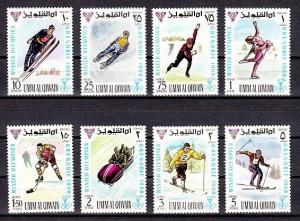 Umm Al Qiwain, Mi cat. 233-240 A. Grenoble Winter Olympics issue. ^