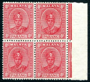 PAHANG-1891 8c Scarlet Block of 4 Sg 36 LIGHTLY MOUNTED MINT V31710