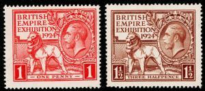 SG430-431, 1924 PAIR, FINE USED. Cat £26.
