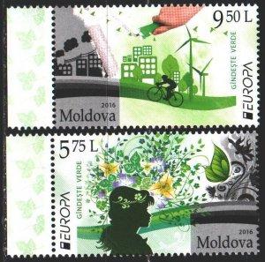 Moldova. 2016. 948-49. Ecology, Europe-sept. MNH.