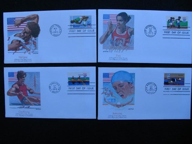 US – 1979 – Set of 4X Olympic Covers