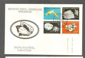 DOMINICAN REPUBLIC STAMP, COVER ,CARACOLES 1999   #CC44