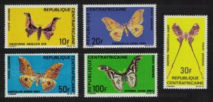 Central African Rep. Butterflies 5v SG#184-188