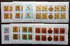 Poland, Scott 1355-1362, MNH Sheetlets of 8