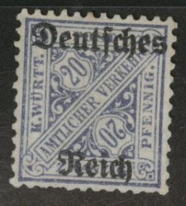 Germany State Wurttemberg Scott o179 MH* official
