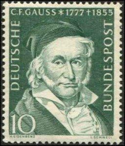 Germany SC# 723 C.F. Gauss, Mathematician   scv $4.00 MH