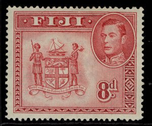 FIJI GVI SG261c, 8d carmine, M MINT.