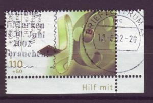 J274 jl,s stamps 2001 germany used 110/50c film real