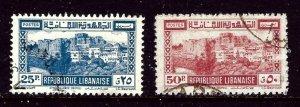 Lebanon 179-80 Used 1945 issues    (ap4312)