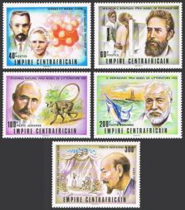 Central Africa 293-294,C183,MNH. Nobel Prize winners,1977.