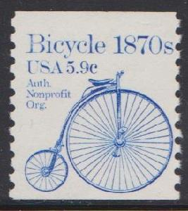 1901 Bicycle F-VF MNH transportation coil single