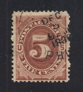 #J18 Red Brown - 1886 Cancel