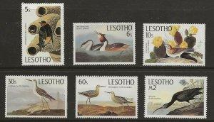 Lesotho (1985)  - Scott # 481 - 486,  MNH