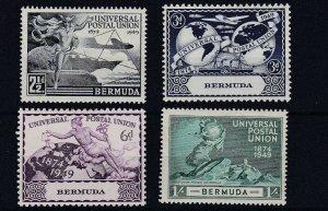 BERMUDA      1949  UPU SET OF 4  MH