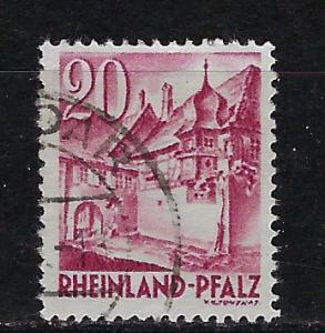 Germany - under French occupation Scott # 6N35, used