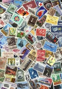 Iceland. Lot of 100 different MNH