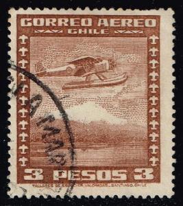 Chile #C41 Seaplane; Used (0.25)