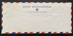 1963 Lusaka Southern Rhodesia Lions Club Airmail Cover To Chicago iL USA