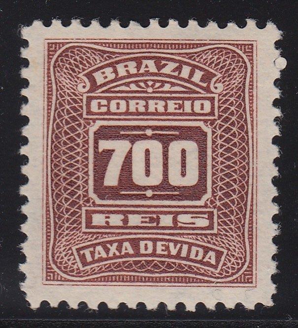 Brazil 1906-10 700r Red Brown Postage Due, M Mint. Scott J37