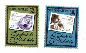 United Nations New York Scott #714-715  Tribute To Philately.