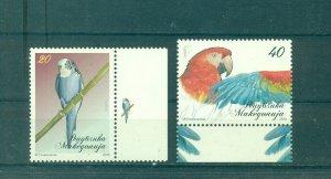 Macedonia - Sc# 511-2. 2010 Parrots. Birds. MNH $3.50.