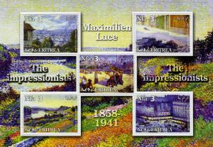 ERITREA 2002 Maximilien Luce Sheet Perforated mnh.vf