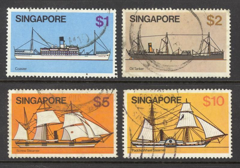 Singapore Sc# 345-348 Used 1980 Hainan Junk