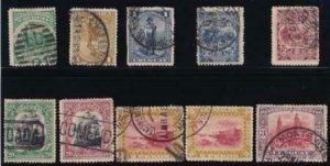Uruguay 1895-1899 SC 108-129 Used Set