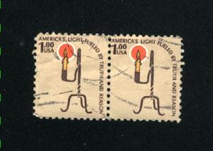 USA #1610  1 used pair 1975-81 PD .12