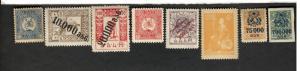 Georgia SC #55 #51 #45 #43 #15 #4 #1  MH stamps