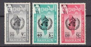 J27239 1968 bahrain set mnh #157-9 who emblem
