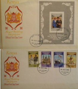 Kenya 1981 Royal Wedding FDC Cover Plus First Day Cover  25/- MS