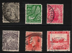 NEW ZEALAND - Lot of Stamps - Early 20th & 19th Century
