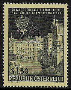 Austria #757 MNH Stamp - Post and Telegraph Administration - 40% Cat.