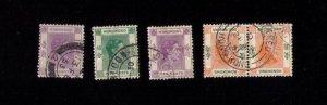 HONG KONG USED Selection Sc 157-158,pair of Sc 163b kgvi F-VF (1938-1946):
