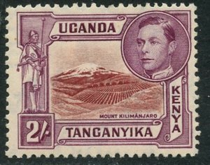 KUT Sc#81a (SG#146) 1938 KGVI 2sh Perf Variety Mint Hinged