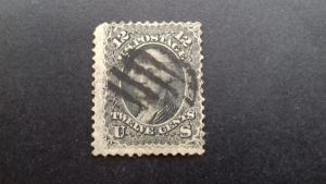 United States 1861 SG65(WASHINGTON) F/U CAT £120