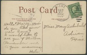 TEXAS OLDMAN COUNTY (1909 Adrian) #626